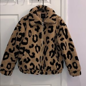 Forever 21 puffy cheetah jacket.